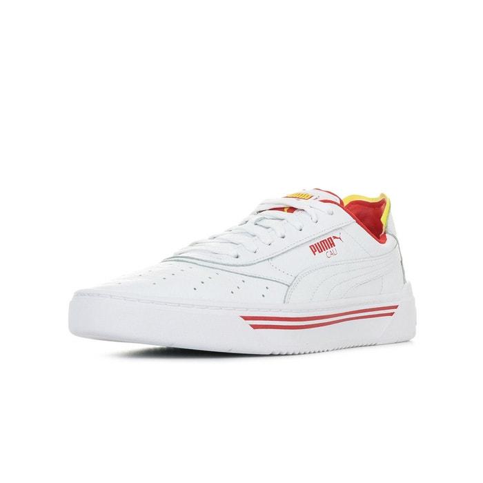 Détails sur Chaussures Baskets Puma homme Cali 0 taille Noir Noire Cuir Lacets