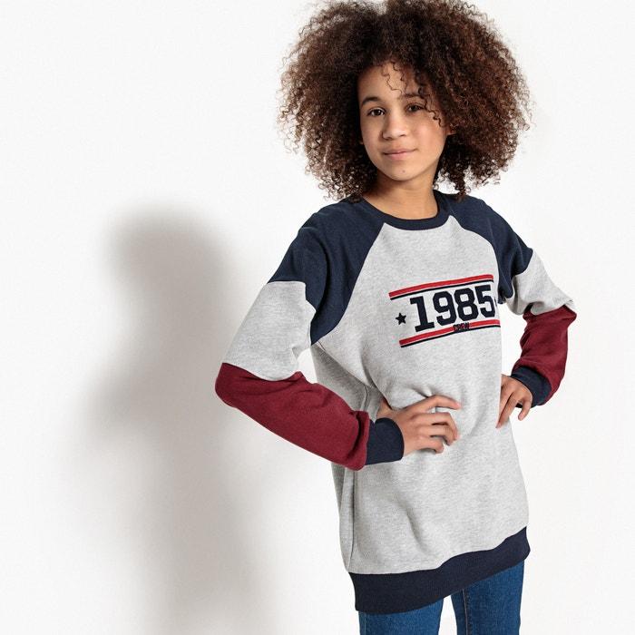 Oversized Sporty Sweatshirt, 10-16 Years  La Redoute Collections image 0