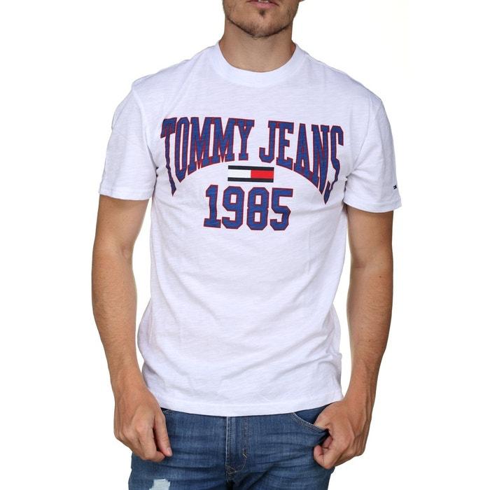 t-shirt collegiate tee blanc tommy hilfiger | la redoute