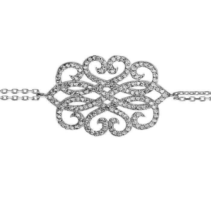 Bracelet longueur réglable: 16 à 19 cm fantaisie oxyde de zirconium blanc argent 925 couleur unique So Chic Bijoux | La Redoute Prix Le Moins Cher Pas Cher En Ligne XtoHgHzt
