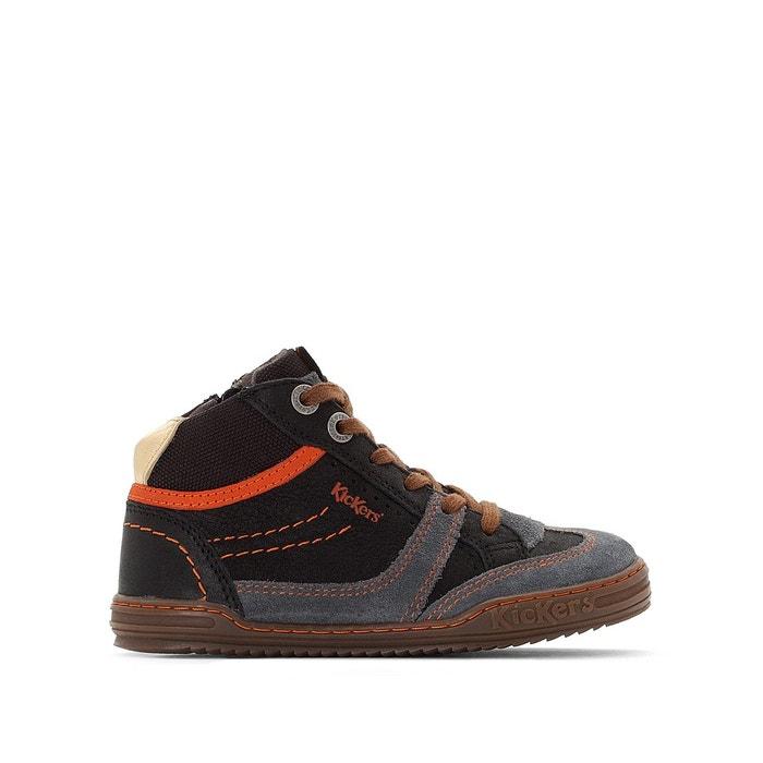 76935a2e96cade Baskets montantes cuir jiroma gris Kickers | La Redoute