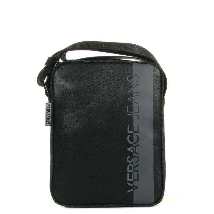 Sacoche homme linea macrologo dis8 899 nappa logata noir, gris Versace | La Redoute