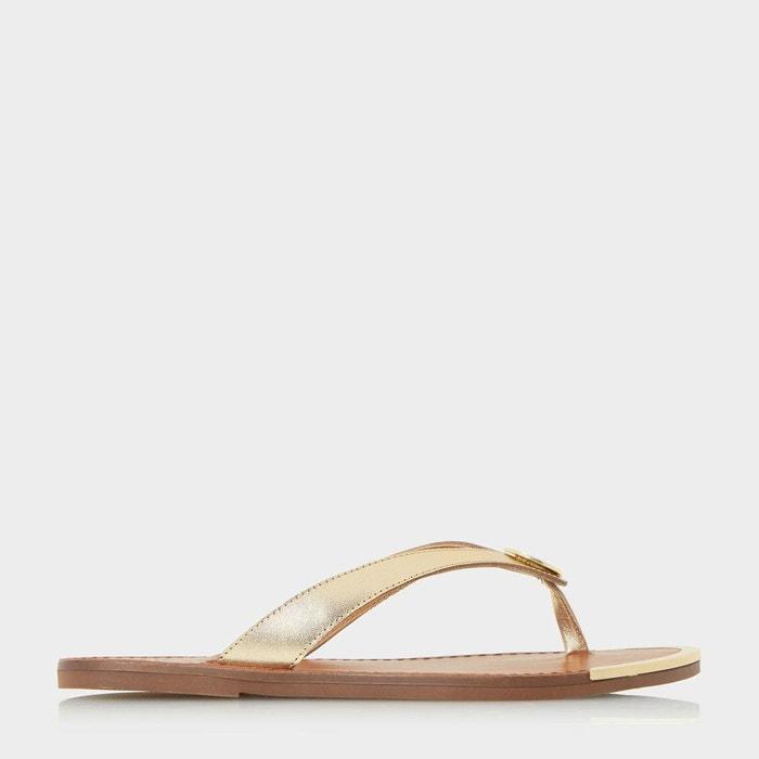 Sandales à entredoigt et disque métallisé - lagos Dune London