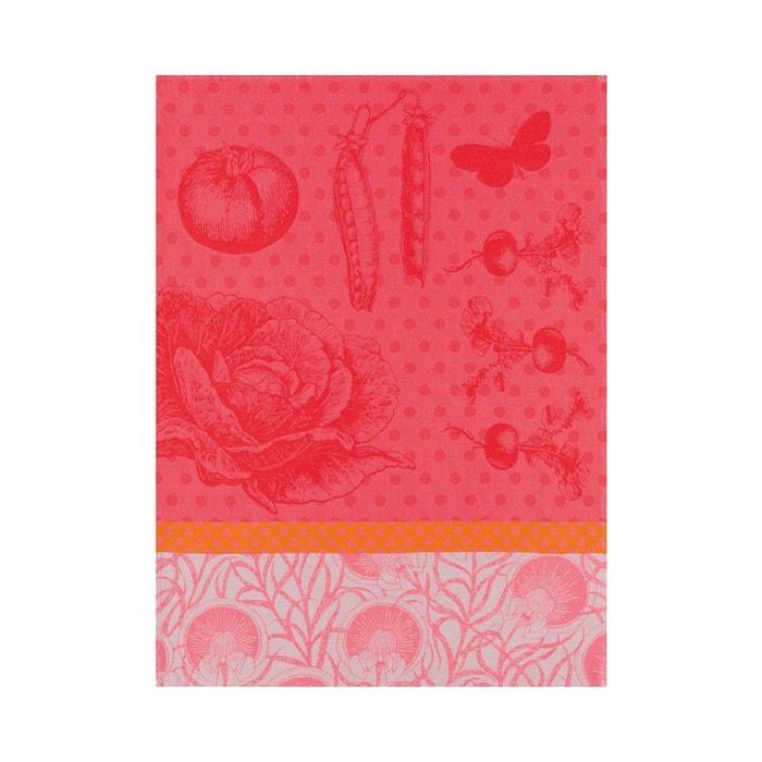 Torchon au potager coquelicot 60x80 100 coton rouge le for Seche torchon cuisine