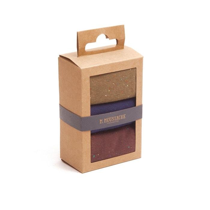 Pack de 3 chaussettes multicolore M. Moustache   La Redoute 4ddd7fbee189