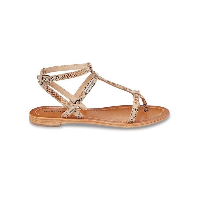sandales cuir plates hilan beige les tropeziennes par m belarbi la redoute. Black Bedroom Furniture Sets. Home Design Ideas
