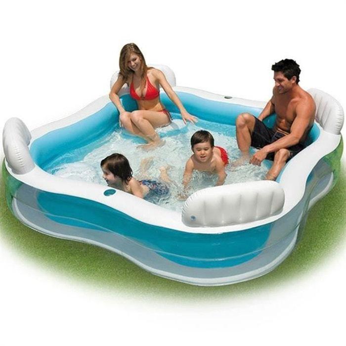 piscine gonflable familiale avec si ges intex couleur. Black Bedroom Furniture Sets. Home Design Ideas