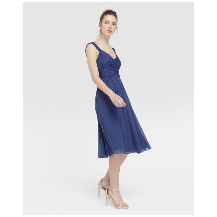 d69a7084e94 Robe drapée finition tressée bleu Tintoretto