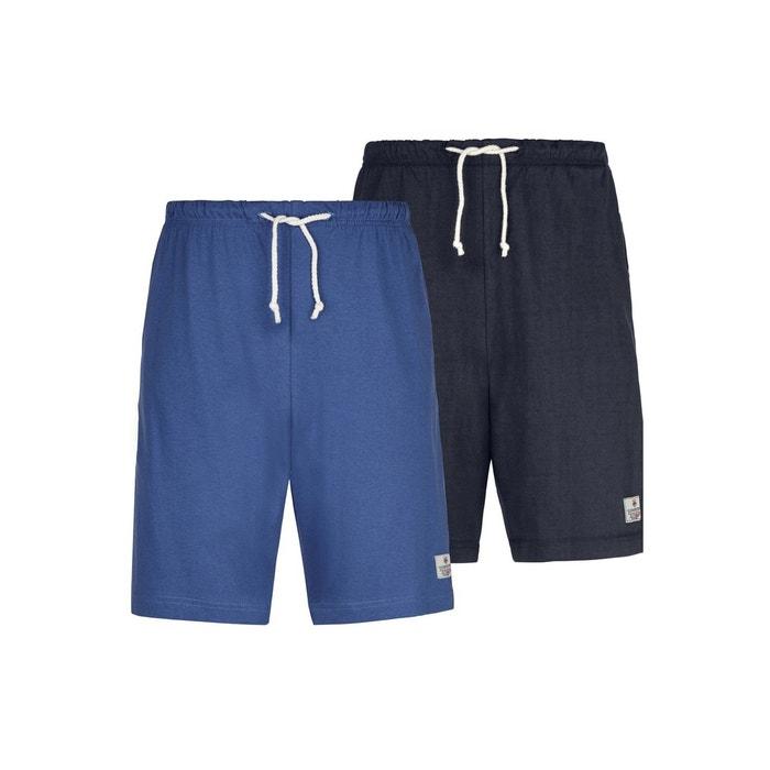 5be65019095fb Lot de 2 shorts de pyjama charle bleu Jan Vanderstorm