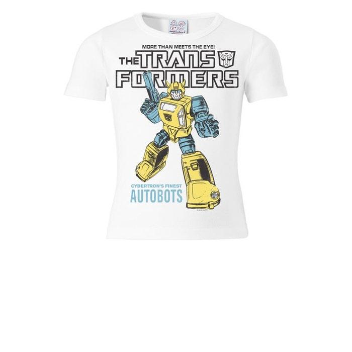 t shirt enfant bumblebee transformers autobots blanc jaune logoshirt la redoute. Black Bedroom Furniture Sets. Home Design Ideas