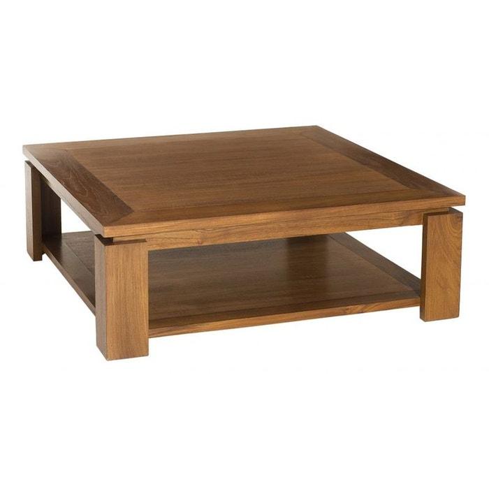 table basse double plateau 90x90cm bisho teck miel pier import la redoute. Black Bedroom Furniture Sets. Home Design Ideas