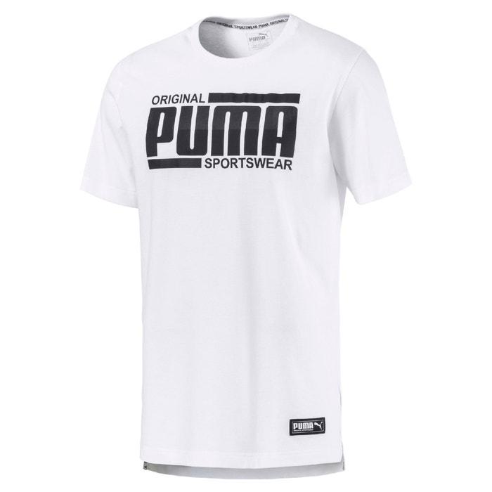 corta con delante de redondo estampado Camiseta con cuello manga PUMA qx1gHwn