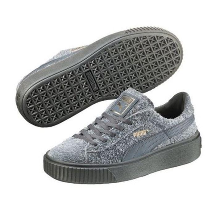 chaussures suede platform element gris gris puma la redoute. Black Bedroom Furniture Sets. Home Design Ideas