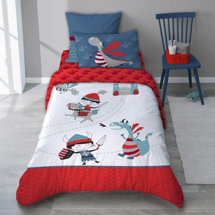 Housse De Couette Dragon Rouge Tout Coton Pour Enfant Dragono