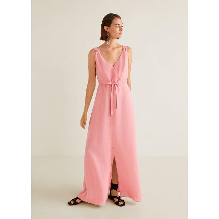 2d4cfbfbd6720 Robe longue lin rose Mango   La Redoute