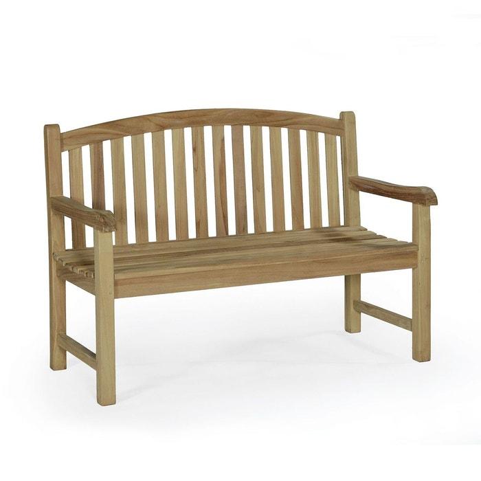 banc en teck ecograde oxford 130 cm naturel teck attitude la redoute. Black Bedroom Furniture Sets. Home Design Ideas