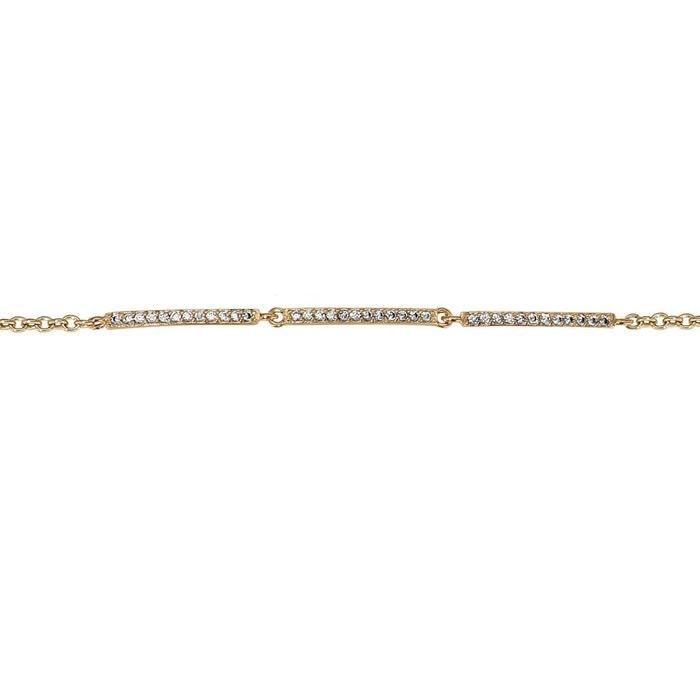 Bracelet longueur réglable: 16 à 18 cm fantaisie oxyde de zirconium blanc plaqué or 750 couleur unique So Chic Bijoux | La Redoute Rabais Vraiment Date De Sortie Du Jeu jhoBmdSUp