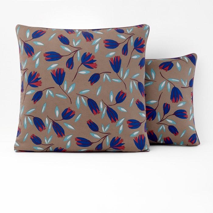 Imagen de Funda de almohada de satén lavado estampado SATIN FLOWER La Redoute Interieurs