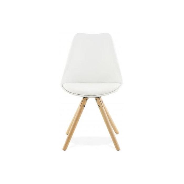 chaise blanche design pieds en polypropylne tufik declikdeco image 0 - Chaise Blanche Design