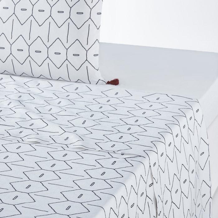 MIRNI Printed Washed Cotton Flat Sheet  La Redoute Interieurs image 0