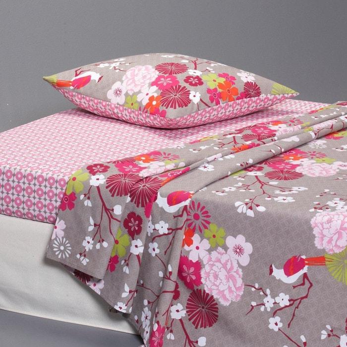 drap imprim miss china taupe taupe rose la redoute interieurs en solde la redoute. Black Bedroom Furniture Sets. Home Design Ideas