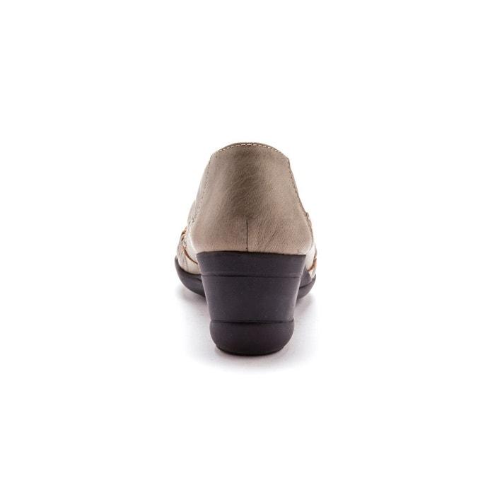 Sans-gêne ajourés, cuir, talon 5cm Pediconfort