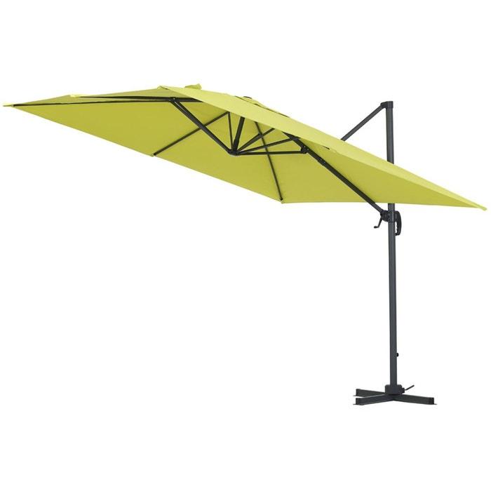 parasol jardin d port alu sun 3 carr 3 x 3 m vert vert habitat et jardin la redoute. Black Bedroom Furniture Sets. Home Design Ideas