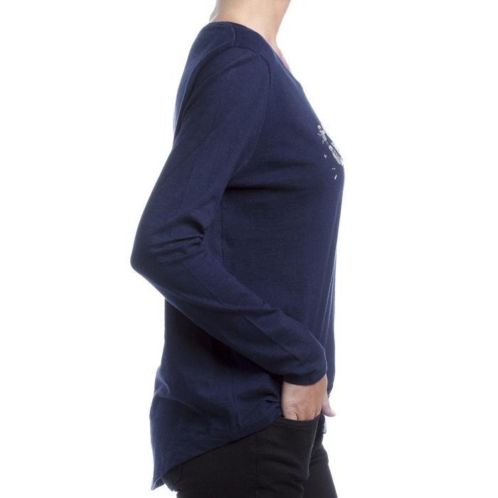 cuello y T FREEMAN Camiseta lentejuelas redondo PORTER con manga con larga wWPxFa