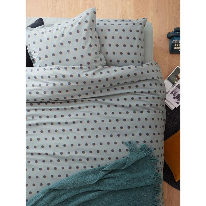housse de couette en percale de coton clipse bleu multicolore cyrillus la redoute. Black Bedroom Furniture Sets. Home Design Ideas