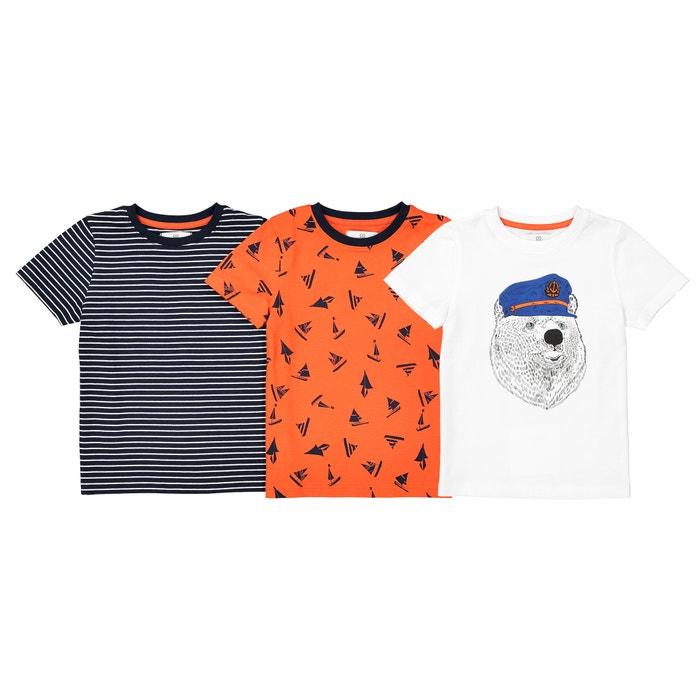 Confezione da 3 T-shirt a fantasia da 3 a 12 anni  La Redoute Collections image 0