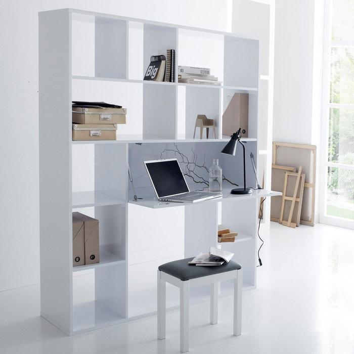 bureau biblioth que newark la redoute interieurs blanc. Black Bedroom Furniture Sets. Home Design Ideas