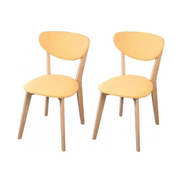 lot de 2 chaises scandinaves jaunes zwart jaune declikdeco la redoute. Black Bedroom Furniture Sets. Home Design Ideas