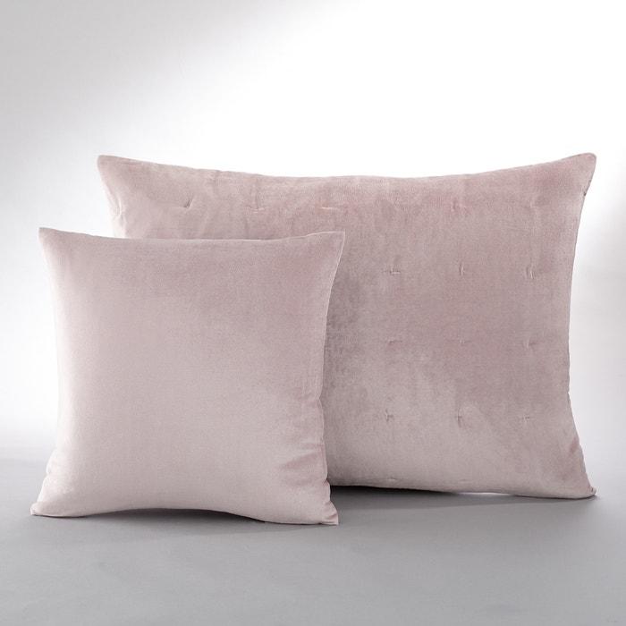 Housse de coussin ou d 39 oreiller damya la redoute interieurs bois de rose taupe la redoute - La redoute housse de coussin ...