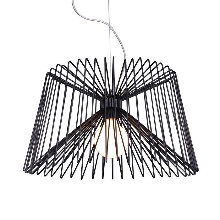 suspension design yacio noire en fer noir keria la redoute. Black Bedroom Furniture Sets. Home Design Ideas