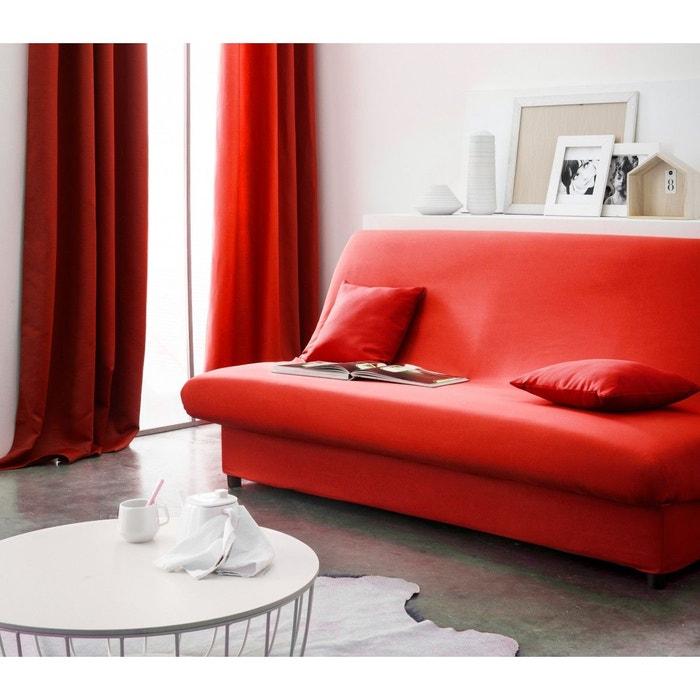 housse clic clac rouge hoze home. Black Bedroom Furniture Sets. Home Design Ideas