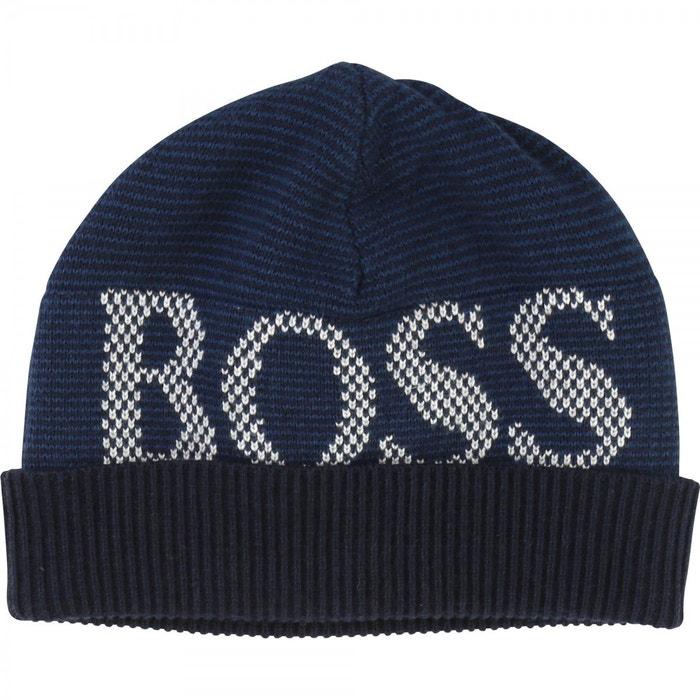 c6d42c1bbf8 Bonnet bébé coton bleu Hugo Boss