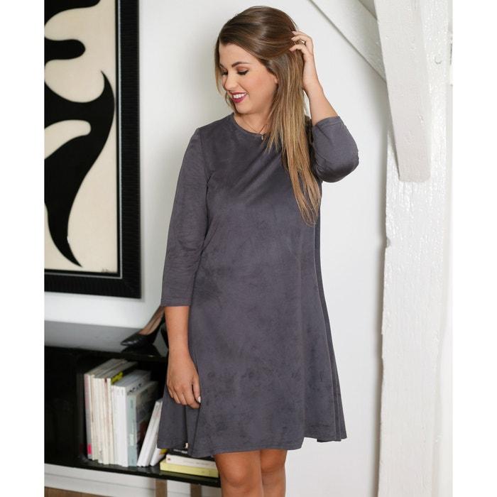 afbeelding Wijd uitlopende jurk met 3/4 mouwen Enjoyphoenix x La Redoute
