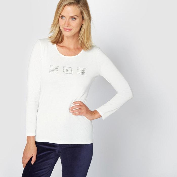 afbeelding T-shirt in gekamd zuiver katoen ANNE WEYBURN