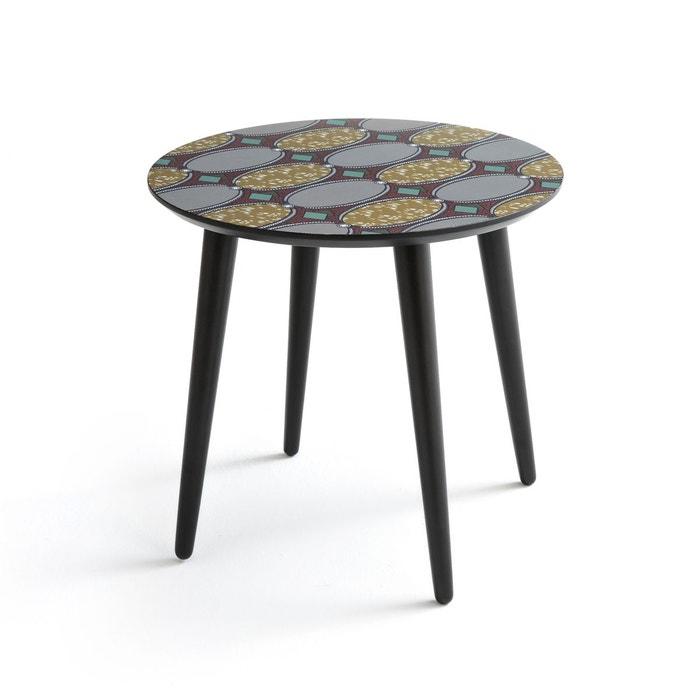 table basse ronde plateau imprim nomado imprim la redoute interieurs la redoute. Black Bedroom Furniture Sets. Home Design Ideas