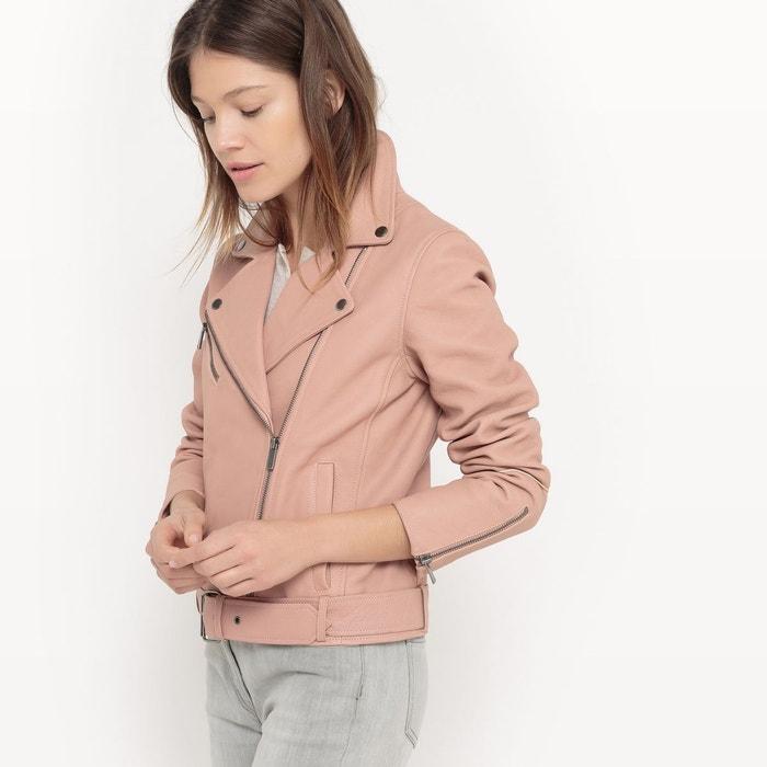 veste en cuir rose pale femme veste en cuir femme chic tenue en product morgan blouson style perfect. Black Bedroom Furniture Sets. Home Design Ideas
