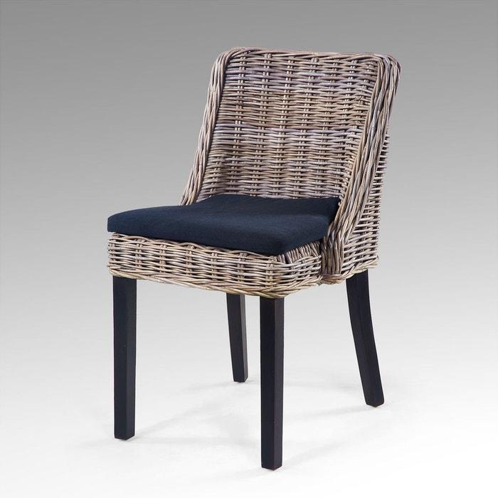 chaise en rotin carnet de voyage couleur unique kha home. Black Bedroom Furniture Sets. Home Design Ideas