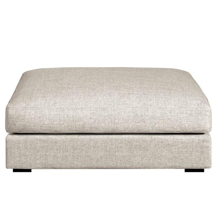 repose pieds horus gros grain beige naturel am pm la redoute. Black Bedroom Furniture Sets. Home Design Ideas