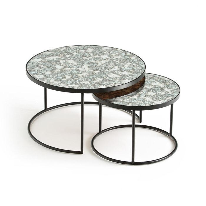 Table De Salon Gigogne.Lot De 2 Tables Basses Semi Gigognes Lipstick