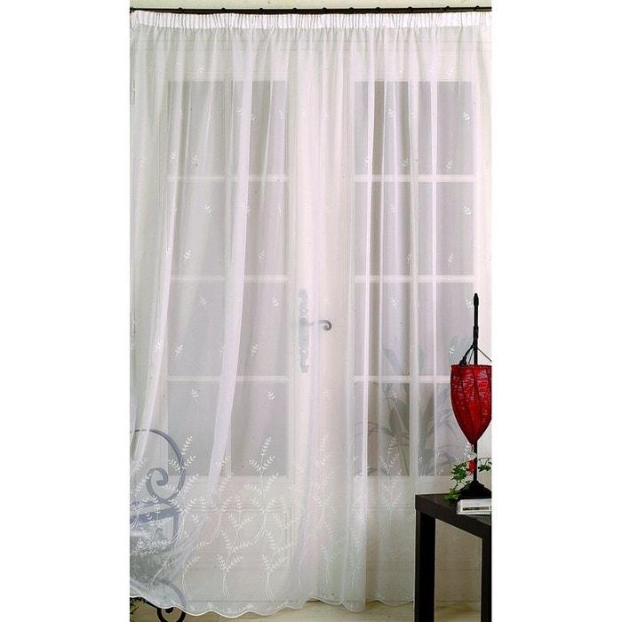 voilage en voile brod dans le bas blanc home maison la. Black Bedroom Furniture Sets. Home Design Ideas
