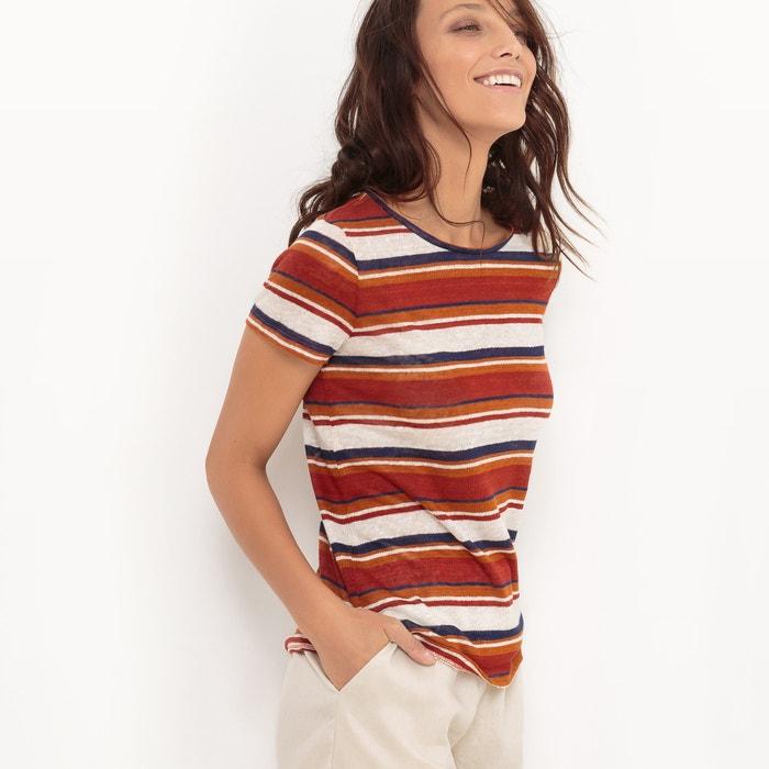 afbeelding Bedrukt T-shirt, 100% linnen atelier R