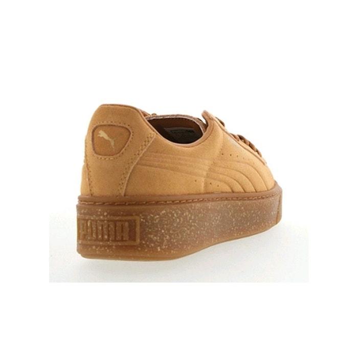 Chaussures suede platform speckled biscuit Puma