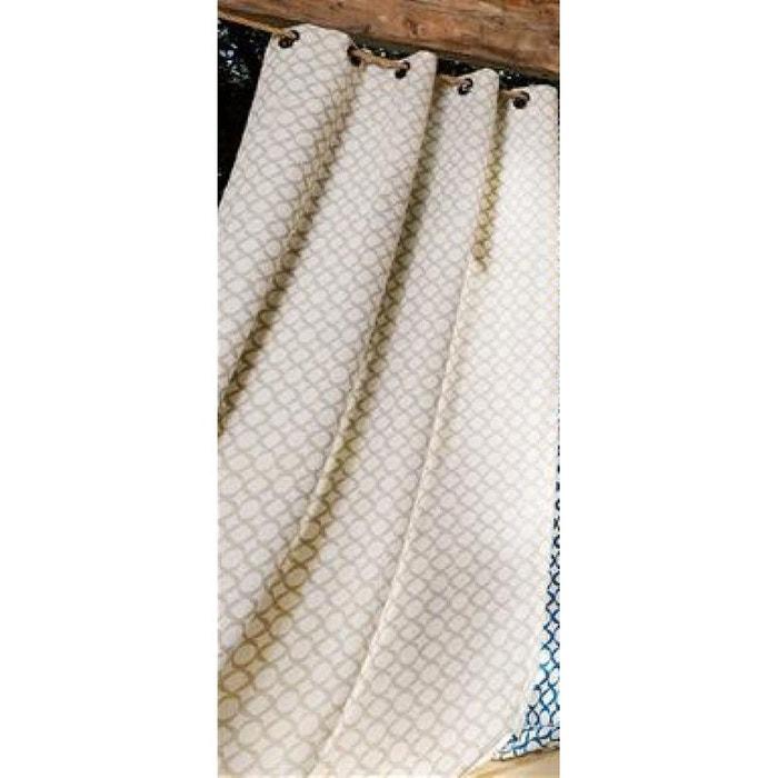 rideau maille g om trique en lin avec oeillets beige home maison la redoute. Black Bedroom Furniture Sets. Home Design Ideas