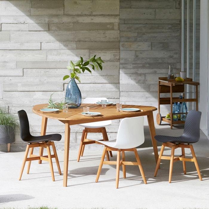 Table de jardin 3 pers eucalyptus fsc marsham la redoute - Table jardin la redoute ...