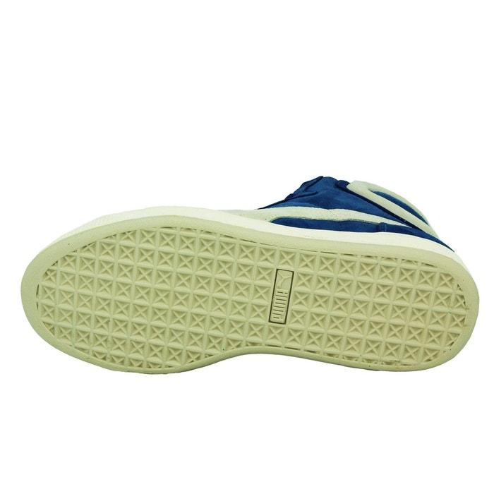 Puma first round ns chaussures mode sneakers unisexe cuir suede bleu bleu Puma
