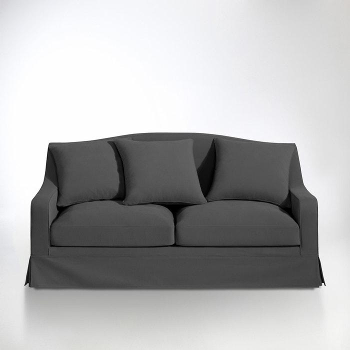 afbeelding 2- of 3-zit canapé, vast model, superieur comfort, half gevlochten katoen, Evender La Redoute Interieurs